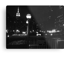 Empire State Building at Night Metal Print
