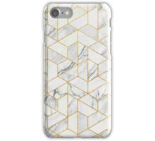 Hexagonal geometric marble iPhone Case/Skin