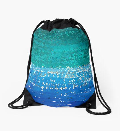 Ride the Wave original painting Drawstring Bag