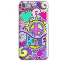 Psychedelic Hippy Retro Peace Art iPhone Case/Skin