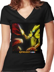 EjProject - Induced Evolution Women's Fitted V-Neck T-Shirt