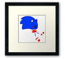 Chibi Sonic the Hedgehog Framed Print