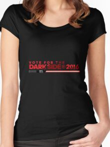 Election Parody Tee - Dark Side Women's Fitted Scoop T-Shirt