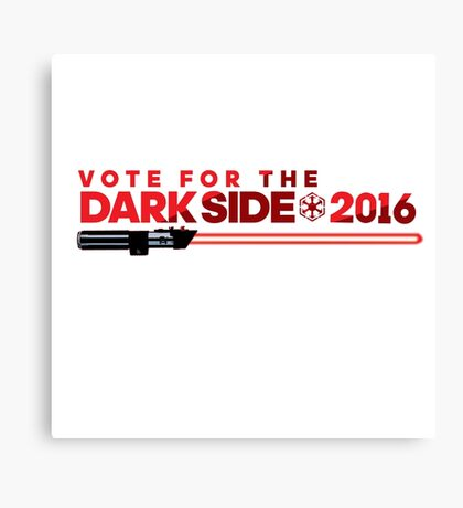 Election Parody Tee - Dark Side Canvas Print