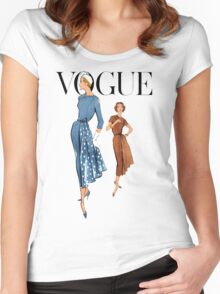 Vogue 2 Women's Fitted Scoop T-Shirt
