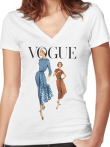 Vogue 2 Women's Fitted V-Neck T-Shirt
