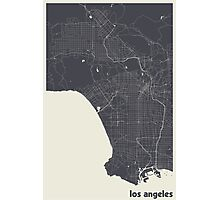 Minimal Maps - Los Angeles - Dark Photographic Print