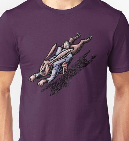 Running Rabbit in a Suit Unisex T-Shirt