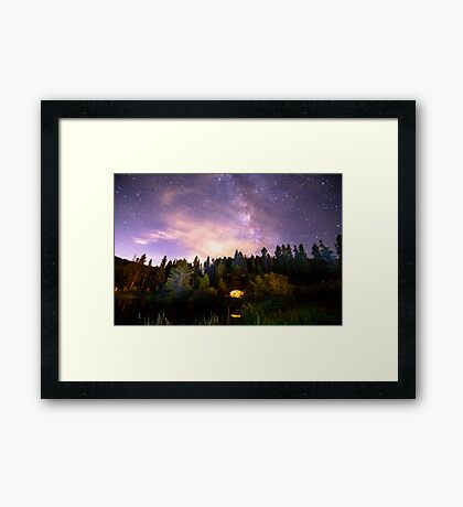 Galaxy Night Framed Print