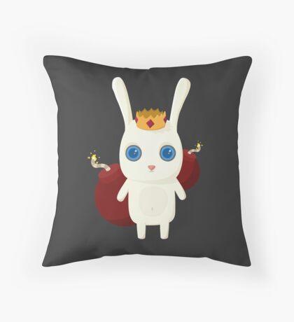 King Rabbit - Bombs! Throw Pillow