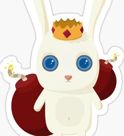 King Rabbit - Bombs! Sticker