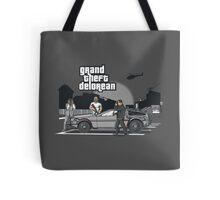 Grand Theft Delorean Tote Bag