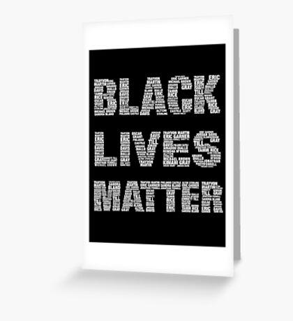 Black Lives Matter Greeting Card