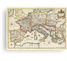 Vintage Map of Europe (1657) Canvas Print
