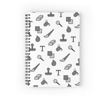 Digital Drawing Symbols Spiral Notebook