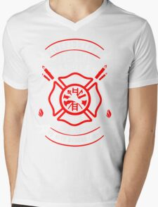 Firefighters are like candles Mens V-Neck T-Shirt