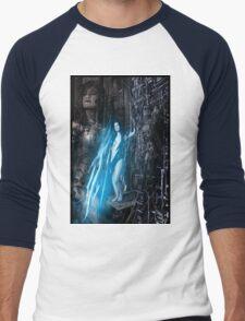 Robot Angel Painting 021 Men's Baseball ¾ T-Shirt