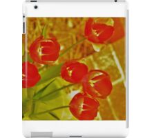 The Red Lightening Tulips iPad Case/Skin