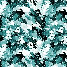 """The Real Teal"" Layered Pattern by Ra12"