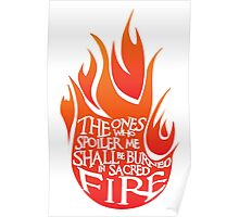 Sacred fire - red Poster