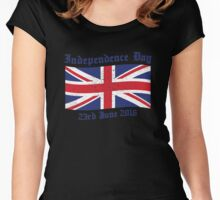 UK Independence Day 23 June 2016 Brexit New Women's Fitted Scoop T-Shirt