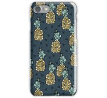 Pineapple - Blue by Andrea Lauren iPhone Case/Skin