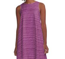 Rosebud Wood Grain Texture A-Line Dress