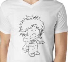 Adventure, Chibi, Anime  Mens V-Neck T-Shirt