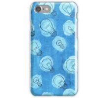 blue bulbs iPhone Case/Skin