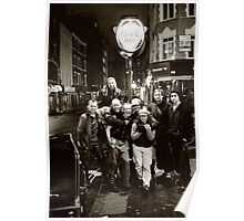A group of rickshaw riders on Frith Street (Soho, London) Poster