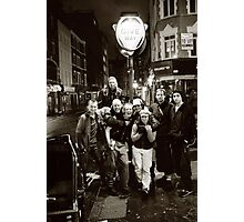 A group of rickshaw riders on Frith Street (Soho, London) Photographic Print