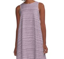 Winsome Orchid Wood Grain Texture A-Line Dress