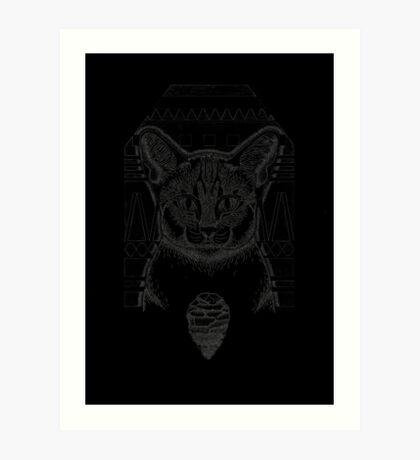 Cat and Flint Art Print