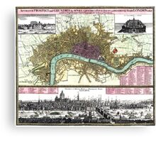 London - England - 1740 Canvas Print