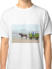 Sparkle Horse carriage on Beach Classic T-Shirt