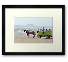 Sparkle Horse carriage on Beach Framed Print