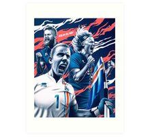 EURO Iceland design Art Print