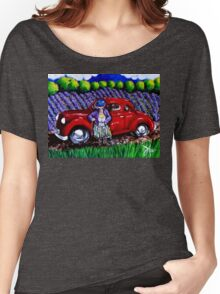 J C 1931 Fishing in Red Women's Relaxed Fit T-Shirt