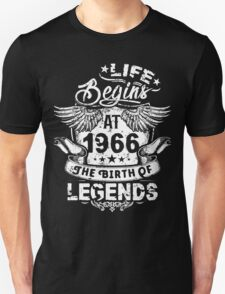 50th Birthday Gift - 1966 The Birth Of Legends Shirt Unisex T-Shirt