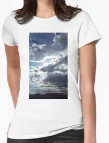 Sun through clouds Womens Fitted T-Shirt