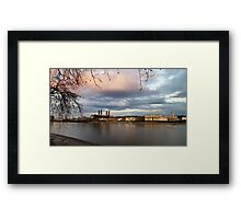 Water sky and royal naval college Framed Print
