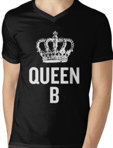 Queen B (White) Mens V-Neck T-Shirt