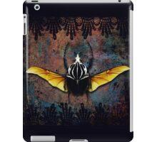 Vlad Tepes Insectus, winged beetle, gothic theme iPad Case/Skin