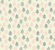 Pattern with Christmas trees by jentesmiler