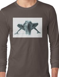 Naked Woman on the floor Long Sleeve T-Shirt
