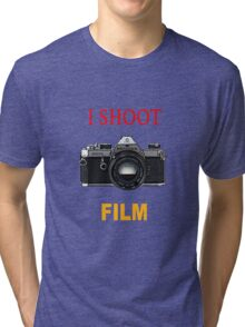 I Shoot Film Tri-blend T-Shirt