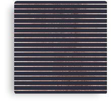 Elegant Chic Rose Gold Stripes and Navy Blue Canvas Print