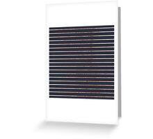 Elegant Chic Rose Gold Stripes and Navy Blue Greeting Card