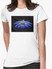 Blue Flower Womens Fitted T-Shirt