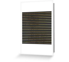 Elegant Chic Yellow Gold Stripes and Black Greeting Card